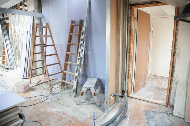 Ongoing renovation in a home
