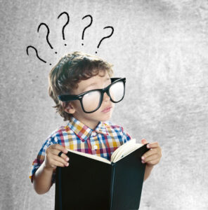 A boy thinking about questions to ask a general contractor