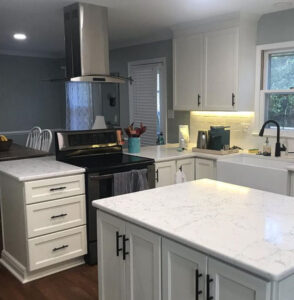 Kitchen remodel - view of a stove